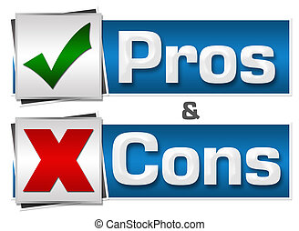 Pros And Cons Buttons Set
