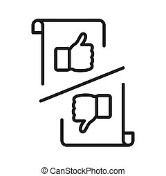 pros and cons icon illustration design