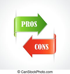 Pros and cons ribbons