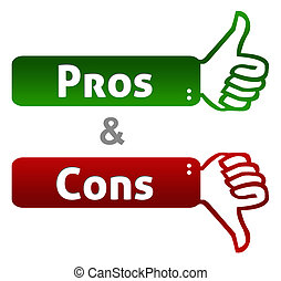 Pros And Cons Thumb Up Down