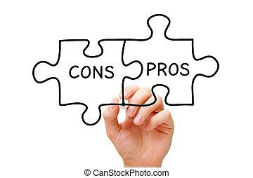 Pros Cons Jigsaw Puzzle Concept