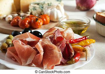 Prosciuto served as appetizer