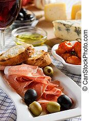 Prosciutto di Parma served as appetizer
