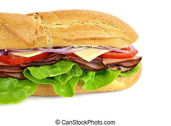 prosciutto, insalata, sub
