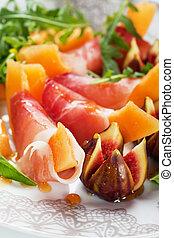 prosciutto, parma, salat, di