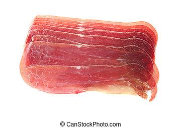 Prosciutto slices - Italian delicacy prosciutto ham slices...