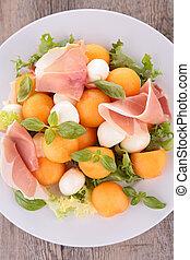 prosciutto with melon salad