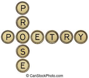 prose, クロスワードパズル, 詩歌
