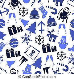 prosinec, měsíc, námět, dát, o, ikona, seamless, model, eps10
