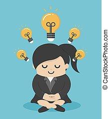 prospérité, faire, méditer, lui, sagesse, hommes affaires, femme, autres, intelligent, que, plus