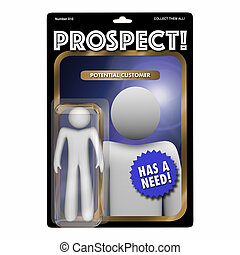 Prospect New Customer Targeting Sales Marketing 3d Illustration