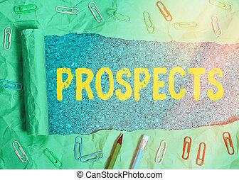 prospects., 潜在性, ポジション, の上, 顧客, 引き裂かれた, 写真, ボール紙, 引き裂かれた, 候補者, 置かれた, バイヤー, 印, 木製である, 背景。, テキスト, テーブル, クラシック, ∥あるいは∥, 回転した, 概念, 提示, 仕事
