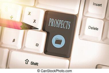prospects., 潜在性, ポジション, キー, キーボード, 顧客, 有色人種, 写真, 別, 取り決められた, 候補者, バイヤー, 印, テキスト, 空, 付属品, コピー, ∥あるいは∥, 概念, 提示, 仕事, space.