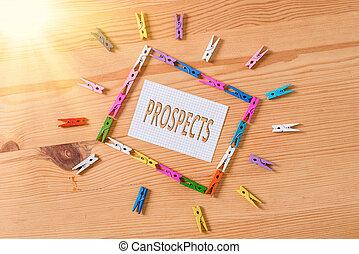 prospects., 潜在性, ポジション, 執筆, 顧客, showcasing, clothespin, 有色人種, メモ, 床, 写真, 背景, 候補者, ペーパー, バイヤー, 木製である, 空, ビジネス, ∥あるいは∥, 提示, 仕事, メモ, オフィス。