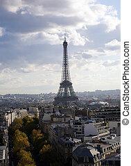 prospekt, do, paryż