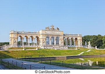 prospekt, na, gloriette, budowa, w, schonbrunn pałac,...