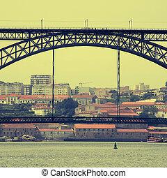 prospekt, od, porto, portugalia