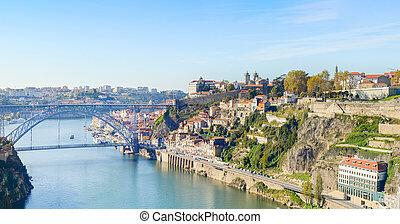 prospekt, porto, portugalia, panoramiczny