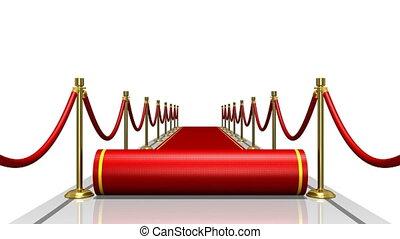 prospekt przodu, unrolling, czerwony dywan