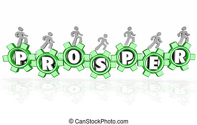Prosper Word Gears Earning Money Company Business Working to Suc