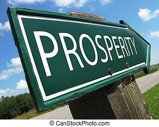 prosperidade, sinal estrada