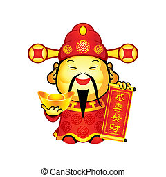 prosperità, cinese, dio