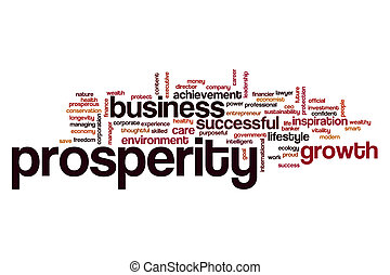 Prosperity word cloud concept