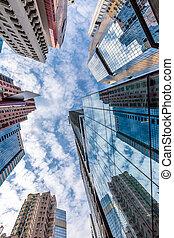 prospettiva, vista, di, costruzione moderna