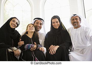 prostřední, rodina, východní