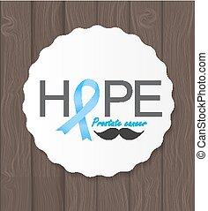 Prostate ?ancer Awareness Blue Ribbon Vector Illustration