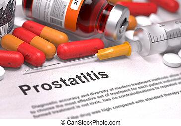 Prostatitis Diagnosis. Medical Concept.