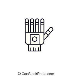 Prosthetic hand linear icon concept. Prosthetic hand line vector sign, symbol, illustration.