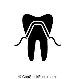 prosthetics icon, vector illustration, black sign on...