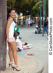 prostituta, asiático