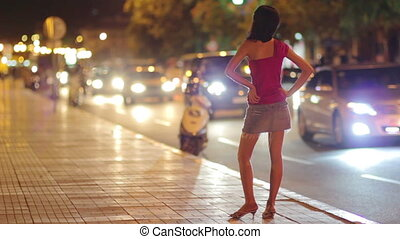 prostitute waiting costumer at night