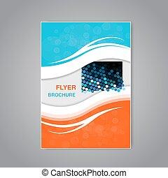 prosty, abstrakcyjny, nowoczesny, wektor, projektować, broszura, lotnik
