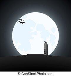 prosty, halloween, theme.