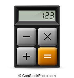 prosty, kalkulator, ikona