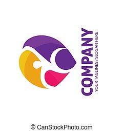 prosty, stosowność, logo, abstrakcyjny