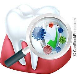 protégé, concept, gencive, dent