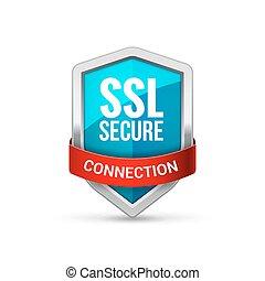 protéger, bouclier, symbole, signe, ssl, garde, protection, icon., sécurité