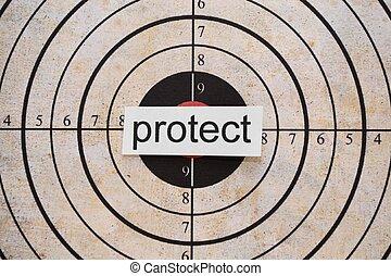 protéger, cible