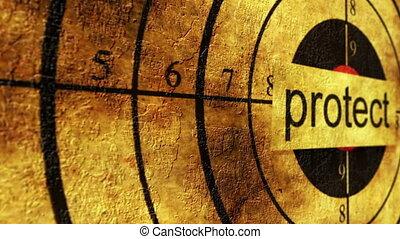 protéger, concept, grunge, cible
