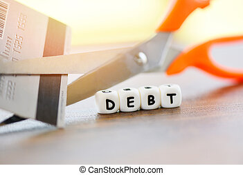 protéger, coupure, financier, payer, arrêt, /, crédit, coût coupe, argent, ciseaux, dette, crise, carte