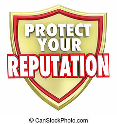protéger, réputation, ton, mots, bouclier