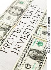 protéger, ton, investissement