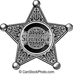 protagonize distintivo, ocidental, xerife