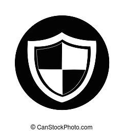 proteção, ícone, ilustração, desenho