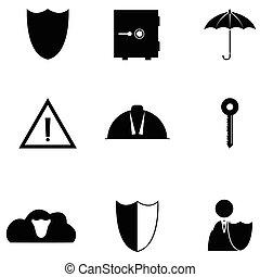 proteção, ícone, jogo