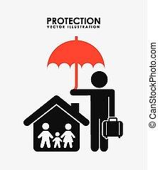 proteção, ícone